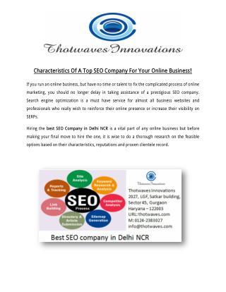 Best SEO Company in Delhi NCR