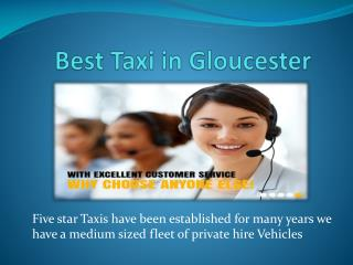 Taxi in Gloucester