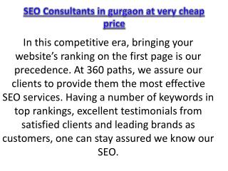 SEO Consultants in gurgaon at very cheap price