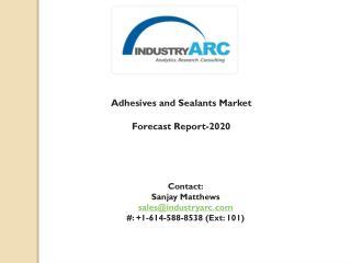 Adhesives and Sealants Market Analysis