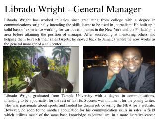 Librado Wright - General Manager