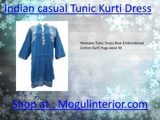 Indian casual Tunic Kurti Dress by mogulinterior