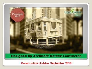 Casa Greens Exotica Construction Images - Sep 2016