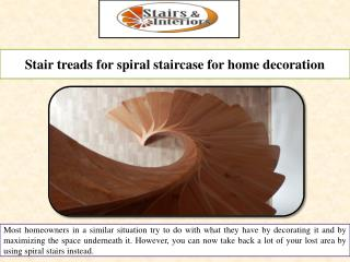 Stair treads for spiral staircase for home decoration