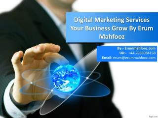 Digital Marketing Services By Erum Mahfooz
