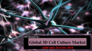 Discount on Global 3D Cell Culture-Valid upto 31st Dec 2016