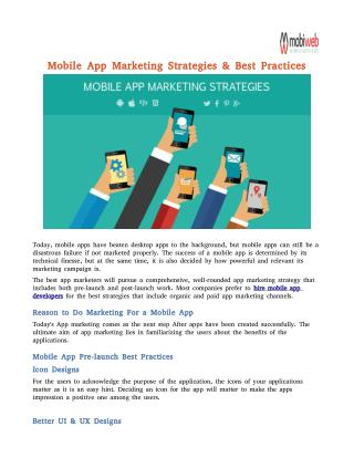 Mobile App Marketing Strategies & Best Practices