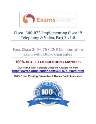 Cisco 300-075 Question Answer