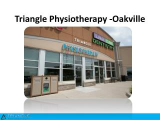 Triangle Physiotherapy Oakville, Physio Clinic Toronto, Physiotherapist North York, Massage Therapy Mississauga