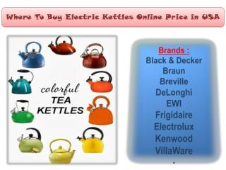Where To Buy Electric Kettles Online At the Best Prices in USA