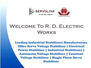 Servo Voltage Stabilizer Manufacturers