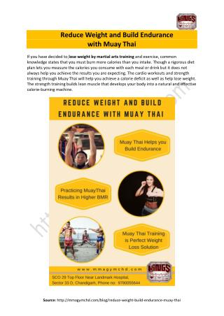 Reduce Weight and Build Endurance with Muay Thai - Kings Academy