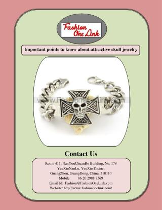 Things you need to know about attractive skull jewelry