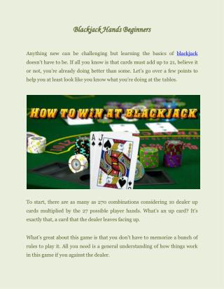 Blackjack hands beginners