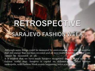 Sarajevo fashion week