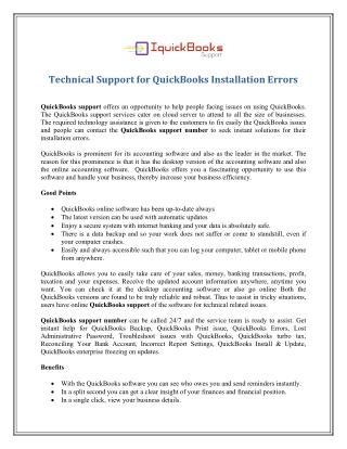 1-865-407-2488 Technical Support Number for QuickBooks Installation Errors
