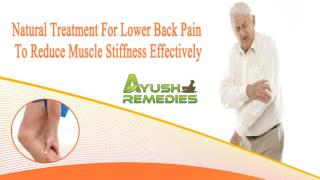 Natural Treatment For Lower Back Pain To Reduce Muscle Stiffness Effectively