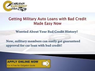 Car Loans For Military Personnel