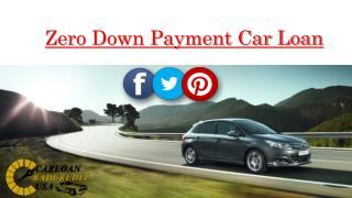 Zero Down Auto Financing For Bad Credit