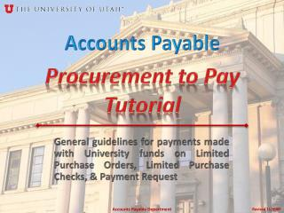 Procurement to Pay Tutorial