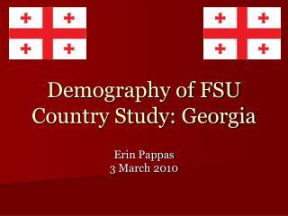 Demography of FSU Country Study: Georgia