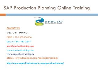 live sap pp(production planning) online training | specto