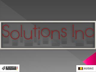 solutions inc speakers