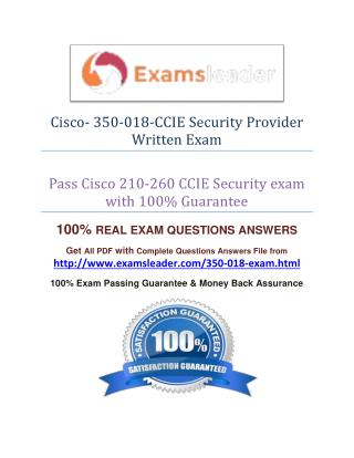 Cisco 350-018 Exam Question Answer