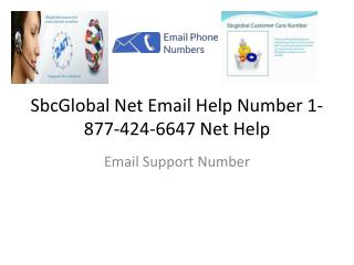 SbcGlobal Net Email Help Number 1-877-424-6647 Net Help