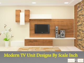 Wooden TV wall units online shopping india