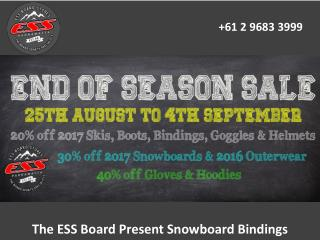 The ESS Board Present Snowboard Bindings