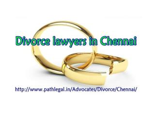 Divorce lawyers in Chennai