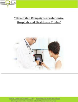 Direct Mail Campaigns for Hospitals and Healthcare Clinics