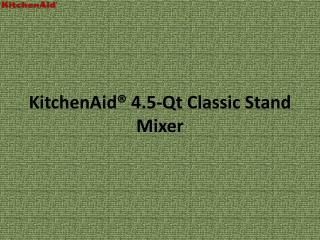 KitchenAid 4.5-Qt Classic Stand Mixer