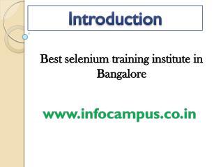 selneium training in bangalore