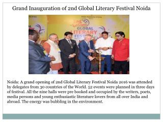 Grand inauguration of 2nd global literary festival noida