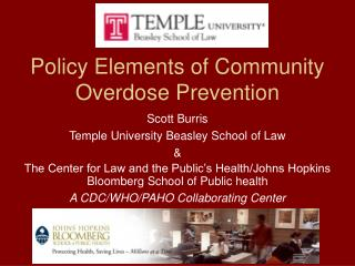 Policy Elements of Community Overdose Prevention