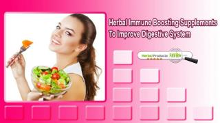 Herbal Immune Boosting Supplements To Improve Digestive System