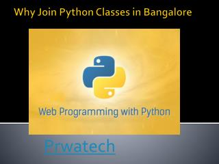 Why Join Python Classes in Bangalore