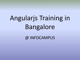 Angularjs course in Bangalore