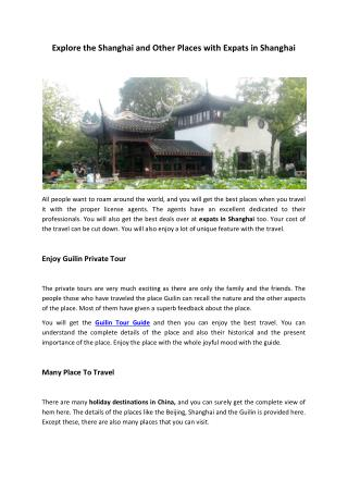 Guilin Tour Guide