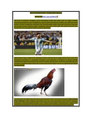 Nikmati Judi Bola Online - Bergabunglah Sekarang