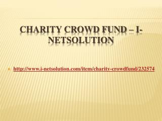 Charity Crowd Fund – i-Netsolution