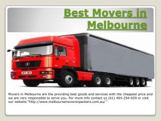Moving Companies in Melbourne