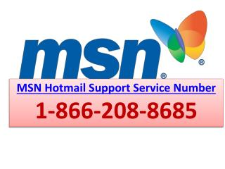 1-866-208-8685 | MSN Hotmail Support Service Number