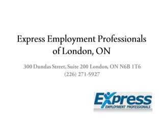 Express Employment Professionals of London, ON