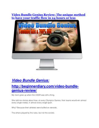 Video Bundle Genius review demo and premium bonus