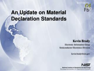 01010010 Pb Cd Hg An Update on Material Declaration Standards