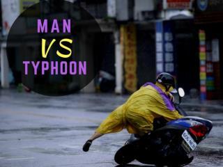 Man vs. typhoon