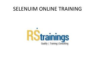 Selenium Online Training in Hyderabad